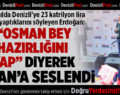 Cumhurbaşkanı'ndan Başkan Zolan'a: Osman Bey Hazırlığını Yap