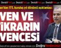 Başkan Zolan'dan 173. Kuruluş Yıldönümü Açıklaması
