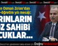 Başkan Osman Zolan'dan eğitim-öğretim yılı mesajı