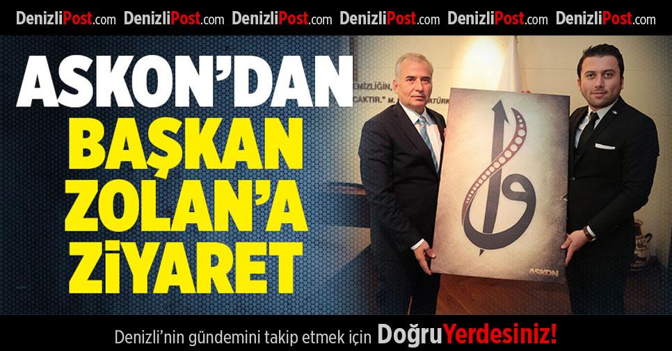 Başkan Osman Zolan'a ASKON'dan ziyaret