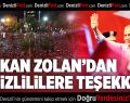 Başkan Zolan'dan Denizlililere Teşekkür