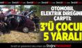 Otomobil elektrik direğine çarptı: 5 yaralı