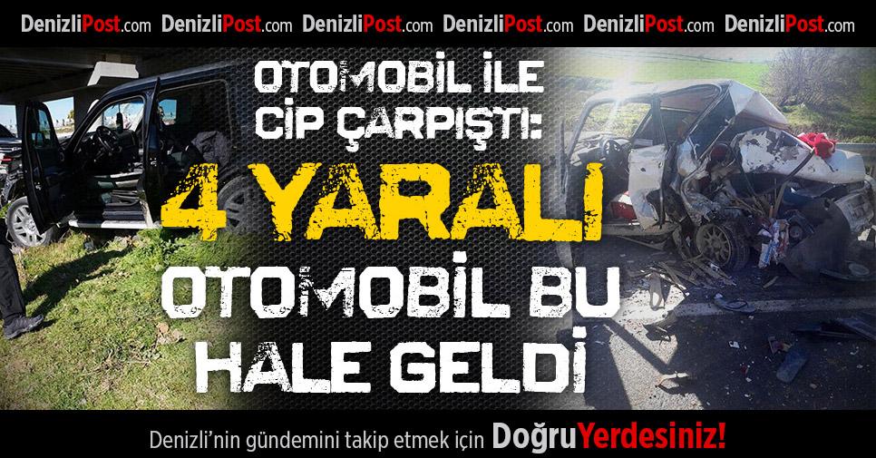 Denizli-İzmir Karayolunda Feci Kaza: 4 Yaralı