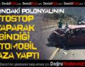 Polonyalının Otostop Yaparak Bindiği Otomobil Kaza Yaptı