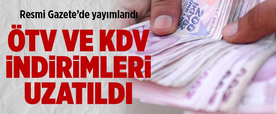 ÖTV ve KDV İndirimleri Uzatıldı