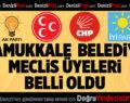 Pamukkale Belediye Meclis Üyeleri Belli Oldu