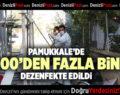 PAMUKKALE'DE 2000'DEN FAZLA BİNA DEZENFEKTE EDİLDİ