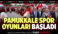 Pamukkale Spor Oyunları Kortej Yürüyüşüyle Başladı