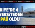 Türkiye'de 4 Üniversiteden Biri PAÜ Oldu