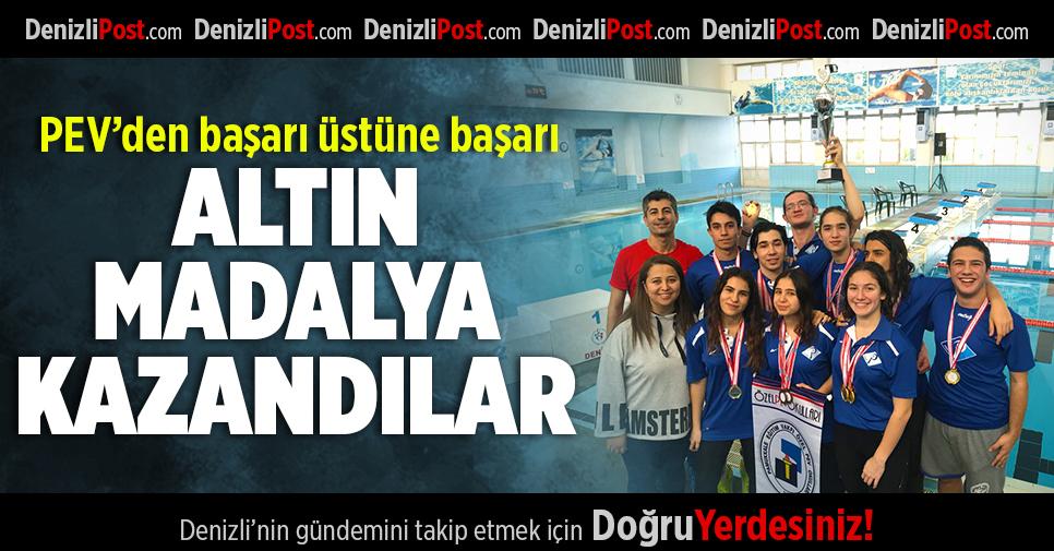 Pev Öğrencileri Altın Madalya Kazandılar