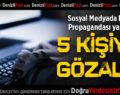 Sosyal Medyada PKK Propagandası Yapan 5 Kişiye Gözaltı