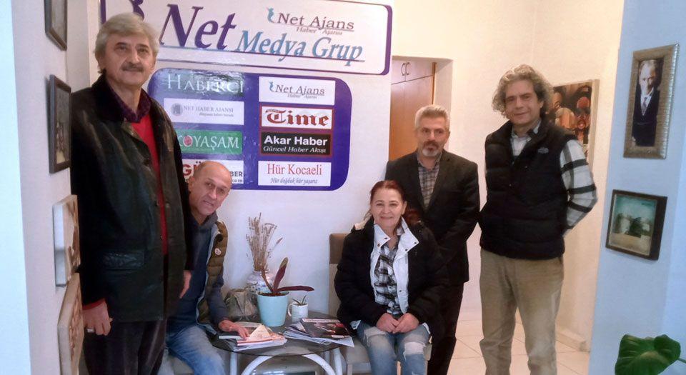 Halk Kürsüsü'nden Net Medya'ya ziyaret