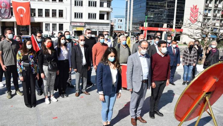 Bursa'da CHP'den 'sessiz' çelenk!