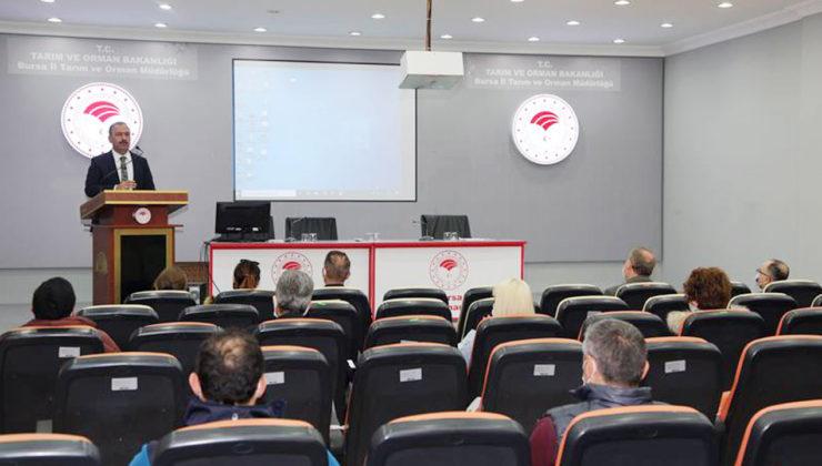 Bursa'da Tarım personeline gıda hijyeni eğitimi