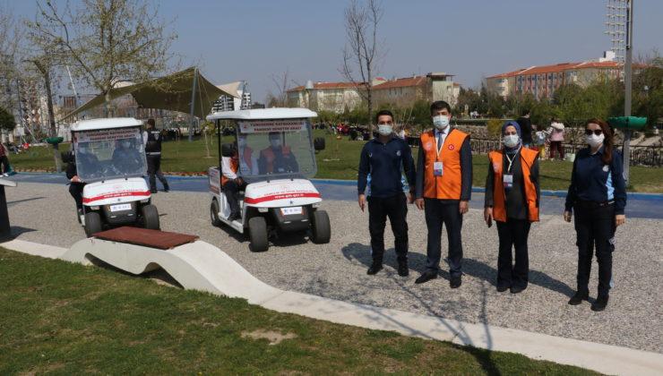 Manisa Atatürk Kent Park'ta COVID-19 denetimi