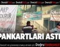 Denizli'de pankartlı protestoya 3 gözaltı