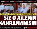 Başkan Osman Zolan'dan kahraman itfaiyecilere ziyaret