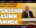 Başkan Zolan, Gazeteciler Cemiyeti'ni Ziyaret Etti