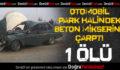 Otomobil Park Halindeki Beton Mikserine Çarptı: 1 Ölü