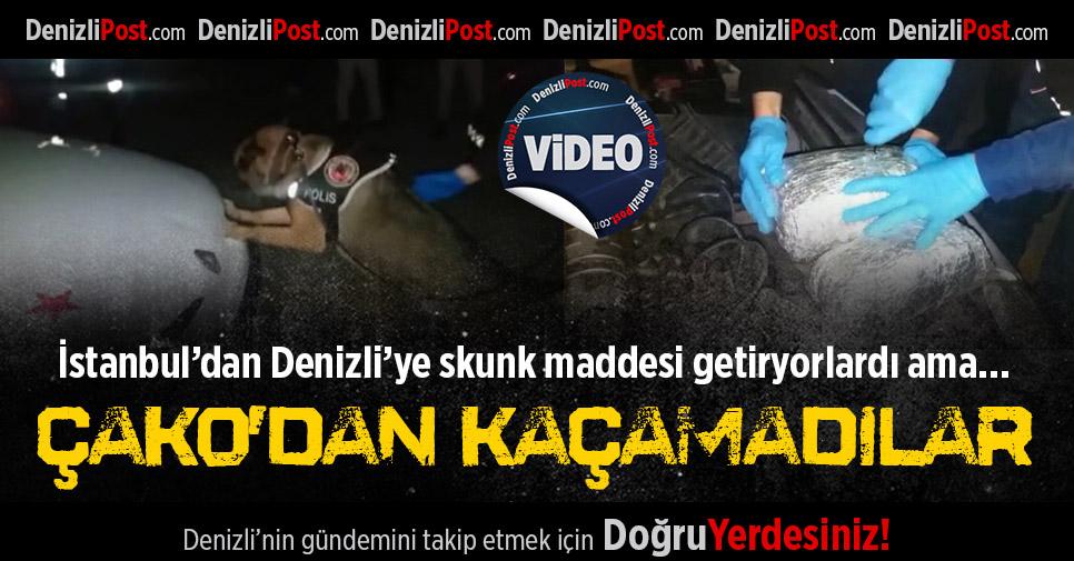 İstanbul'dan Denizli'ye Skunk Maddesi Getiren Uyuşturucu Tacirleri Çako'dan Kaçamadı