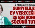 CHP'li Basmacı'dan Suriyelilere Ev Verilmesine Tepki