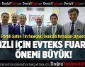 AK Partili Şahin Tin Evteks Fuarını Ziyaret Etti