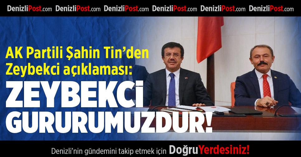 AK Parti Denizli Milletvekili Şahin Tin'den Zeybekci Açıklaması
