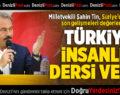 Türkiye İnsanlık Dersi Verdi