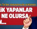 AK Parti'li Şahin Tin'den Dokunulmazlık Açıklaması