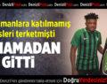 Denizlispor'da O Oyuncu Oynamadan Gitti