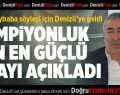 Samet Aybaba'nın favorisi Beşiktaş