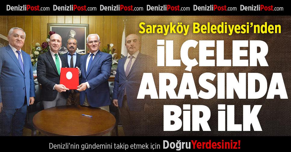 Sarayköy Belediyesi'nden İlçeler Arasında Bir İlk