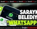 """Sarayköy Belediyesi """"Whatsapp""""ta"""