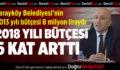 Sarayköy Belediyesi'nin 2018 Yılı Bütçesi 6 Kat Arttı