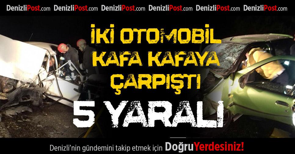 Sarayköy'de Feci Kaza: 5 Yaralı