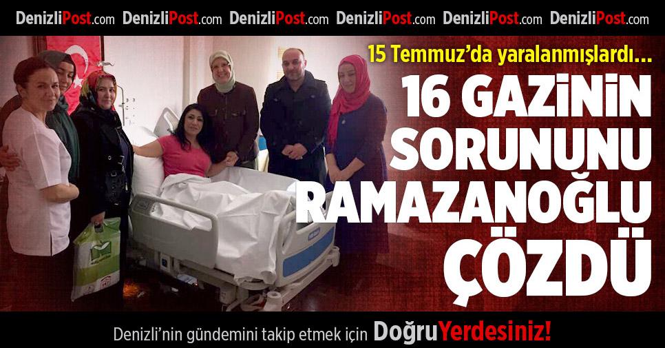 Gazilerden Ramazanoğlu'na anlamlı teşekkür