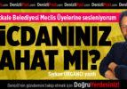 Pamukkale Belediye Meclis Üyelerine sesleniyorum