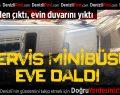 Karşıyaka'da Servis Minibüsü Devrildi