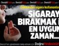 Doktordan Sigara Kullananlara Uyarı