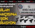 Çivril'de kaçak silah operasyonu