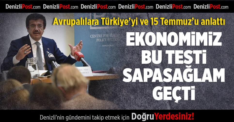 Zeybekci, Avrupalılara Türkiye Ekonomisini Anlattı