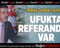 Zeybekci: Sistem değişikliğini halk belirleyecek