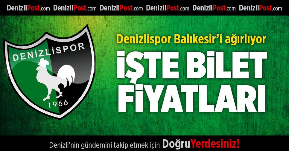 Denizlispor-Balıkesirspor maçının bilet fiyatları