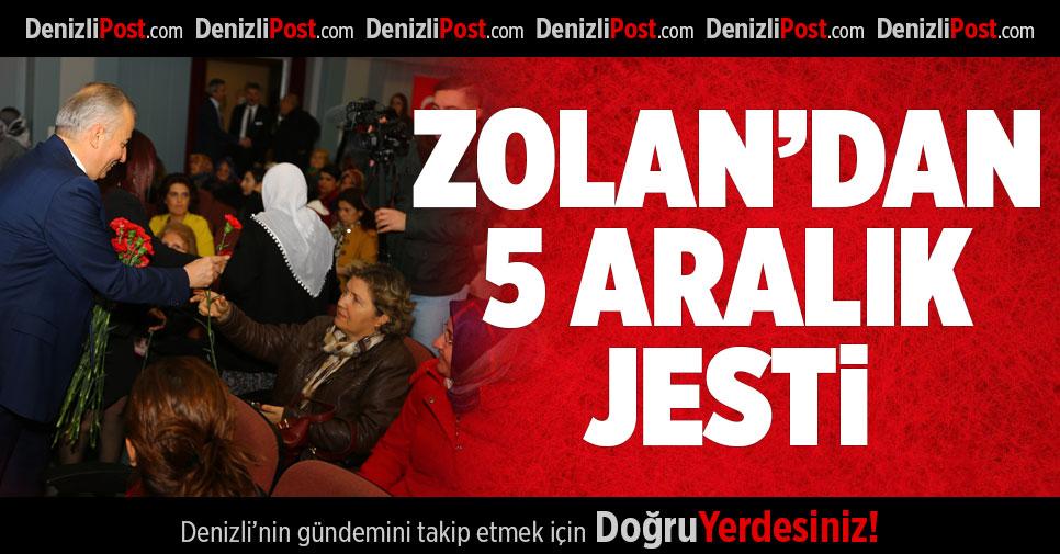 Başkan Zolan'dan kadınlara kırmızı karanfil