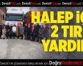 Halepliler için 2 TIR yardım
