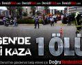 Üçgen'de kaza: 1 ölü