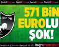 Denizlispor'a 571 bin euroluk şok