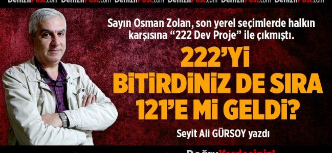 222'Yİ BİTİRDİNİZ DE SIRA 121'E Mİ GELDİ?