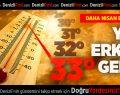 Denizli'de sıcaklık 33 dereceye kadar çıkacak