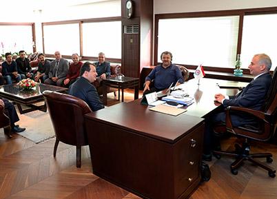 Acıpayam Dernekler Birliğinden Başkan Osman Zolan'a ziyaret